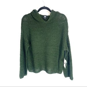 *NWT* W by WORTH Oversized Cropped Sweater Hoodie